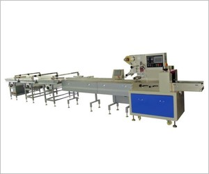 Straight parting feeding packing machine