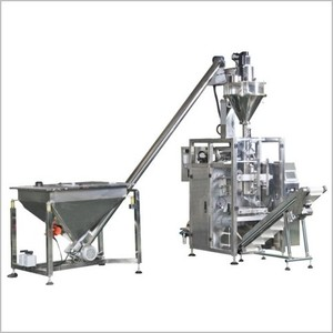 Full automatic packaging machine combined with screw elevator